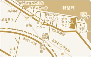 周辺地図(大津プリンスホテル)